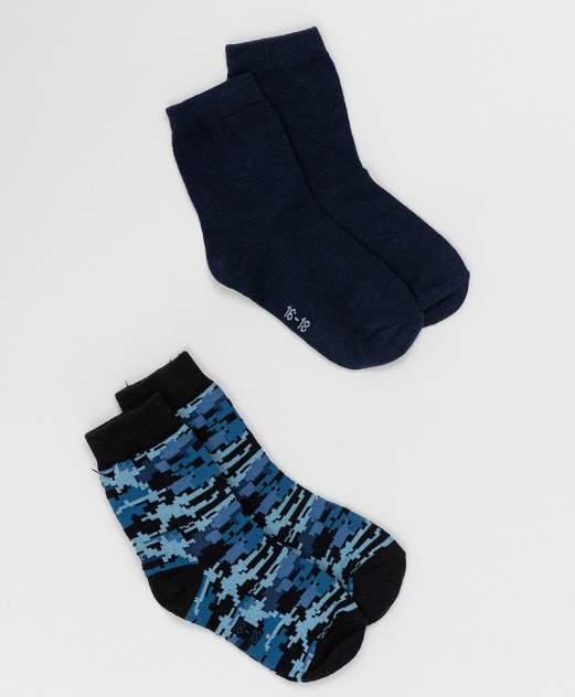 Комплект носков, 2 пары Button Blue для мальчиков синий 16-18