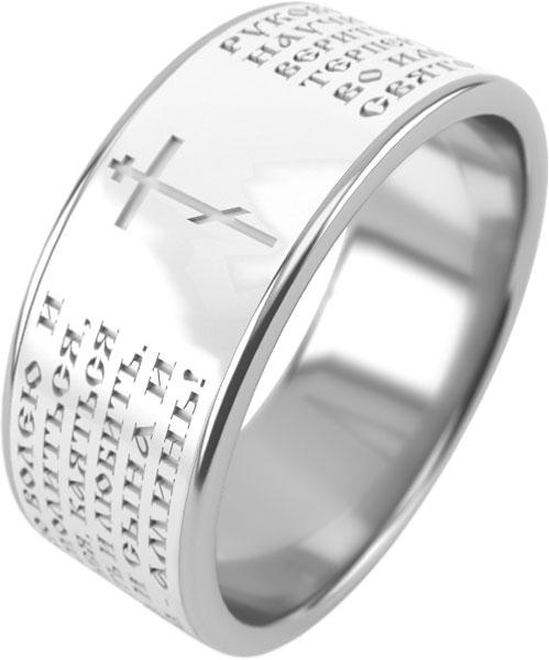 Кольцо из серебра с керамикой р.20 Graf Кольцов Molitva-1kb/s