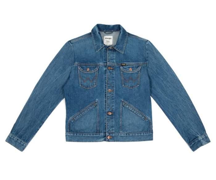 Мужская джинсовая куртка Wrangler W4MJUG923, светло-синий