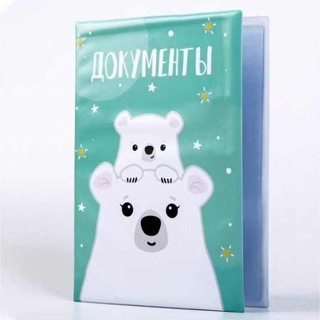 Папка для семейных документов унисекс RAFECOFF Белые медведи
