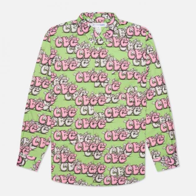 Рубашка мужская Comme des Garcons SHIRT FH-B033-W21, зеленый