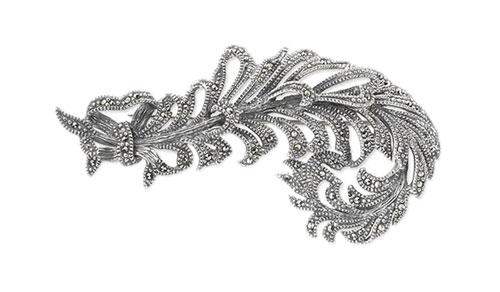 Брошь из серебра с марказитом Марказит HB098-mr