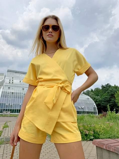 Женский костюм AVEMOD AV 1128, желтый