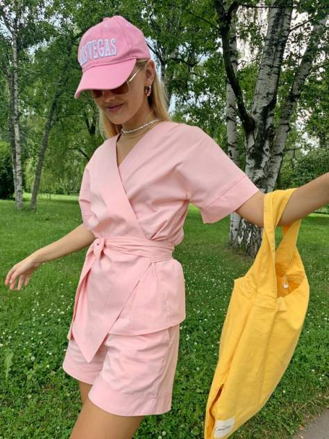 Женский костюм AVEMOD AV 1128, розовый