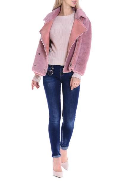 Женская шуба MODALETO 1032M, розовый