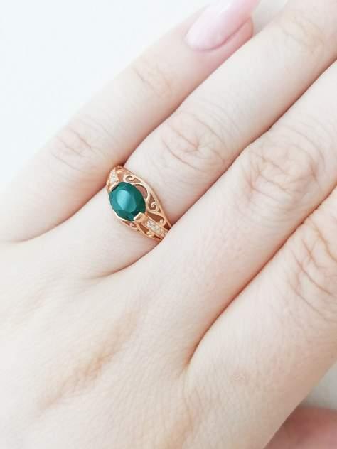 Кольцо женское SamoroDki Jewelry 00301кз07 из серебра агат/фианит, р. 20