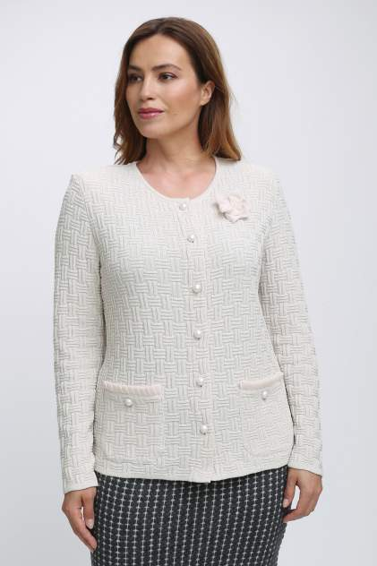 Жакет женский Текстильная Мануфактура Д 2231 бежевый 56 RU