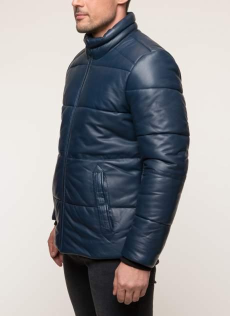 Кожаная куртка мужская Gotthold 157561 синяя 60