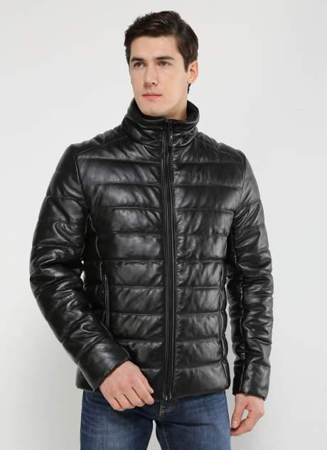 Кожаная куртка мужская Каляев 157352 черная 54