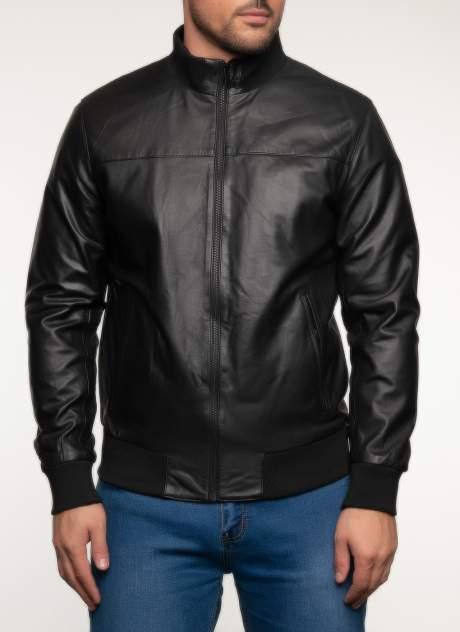 Кожаная куртка мужская Каляев 158242 черная 58