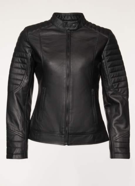 Кожаная куртка женская Каляев 157547 черная 44