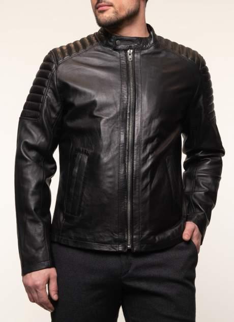 Кожаная куртка мужская Каляев 157547 черная 58