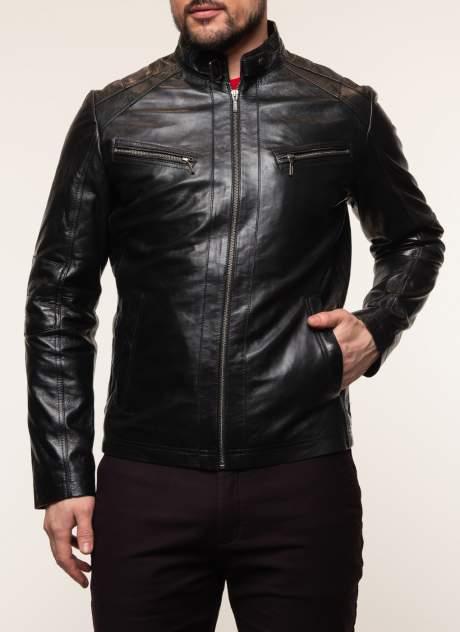 Кожаная куртка мужская Каляев 158238 черная 64