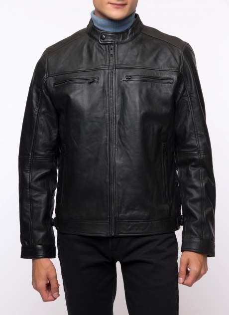 Кожаная куртка мужская Каляев 158235 черная 64
