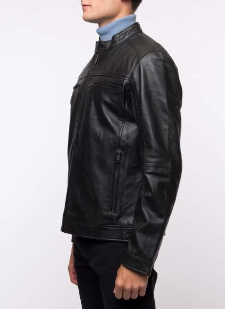 Кожаная куртка мужская Каляев 158235 черная 60
