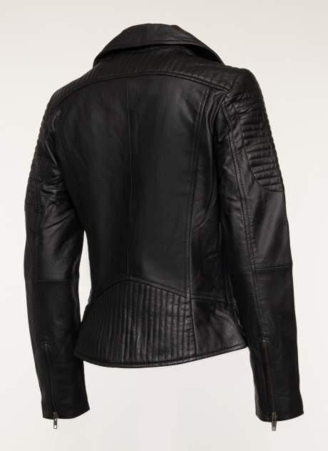 Кожаная куртка женская Каляев 157544 черная 52