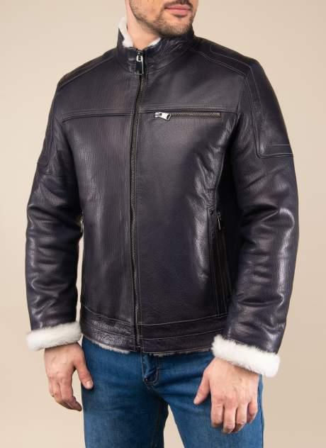 Кожаная куртка мужская Каляев 157318 синяя 54