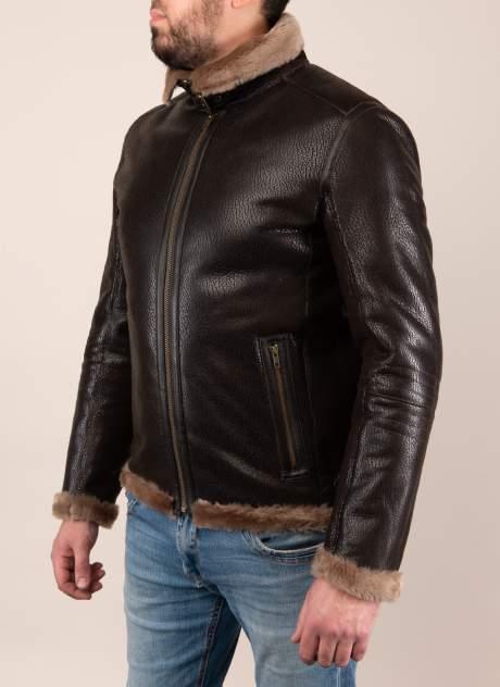 Дубленка мужская Каляев 157313 коричневая 56