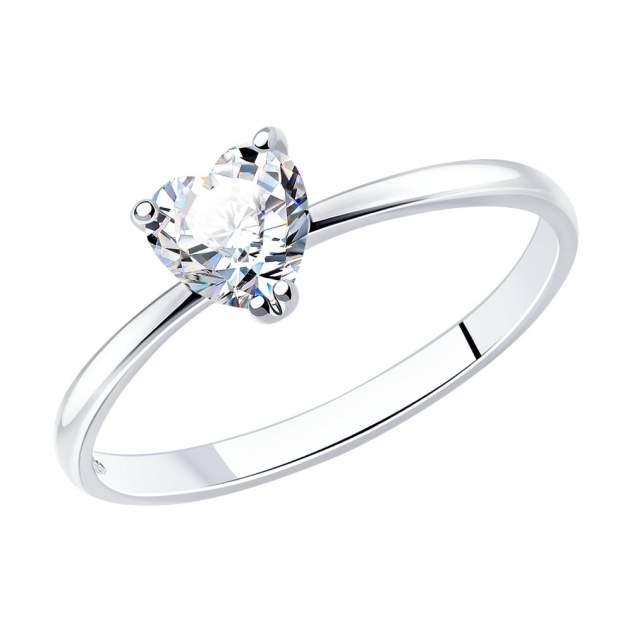 Кольцо женское SOKOLOV 94011721 из серебра, фианит р.18
