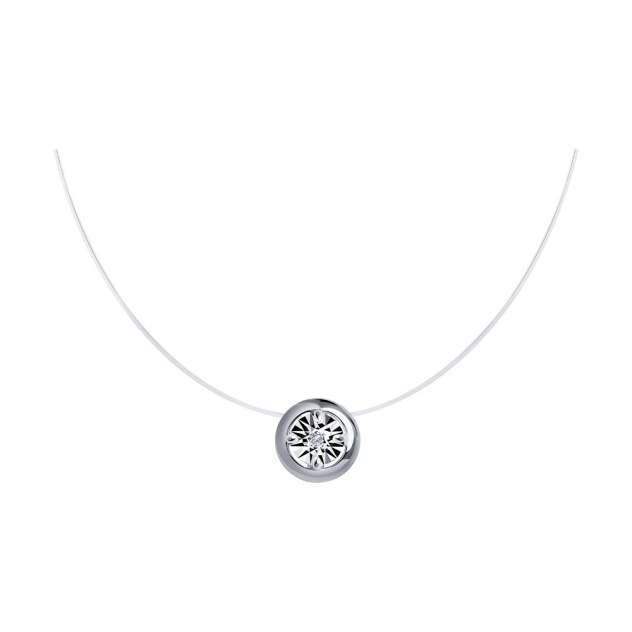 Колье женское SOKOLOV 87070018 из серебра, бриллиант 38см