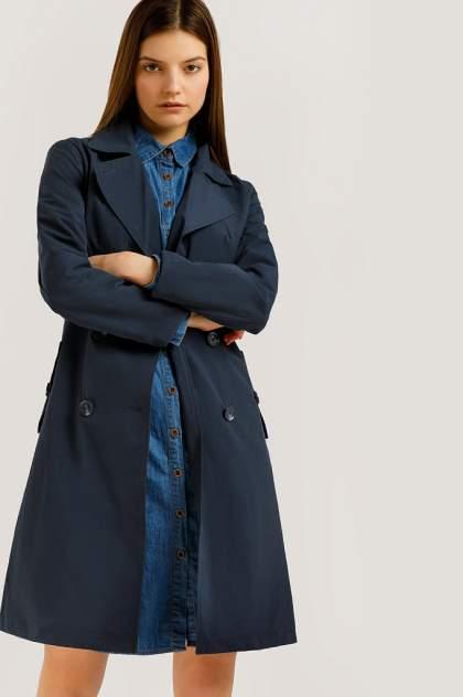Тренч женский Finn Flare B20-11023 синий XL