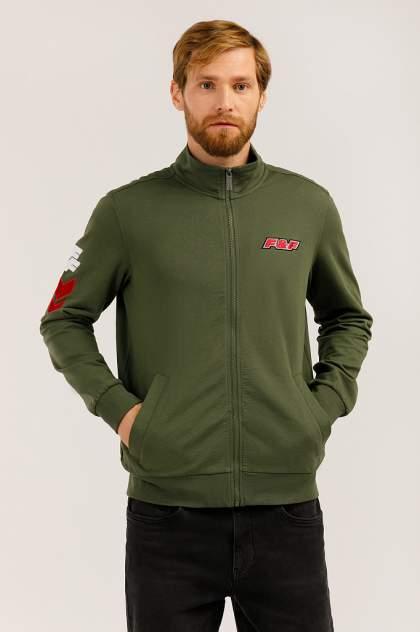 Толстовка мужская Finn Flare UA19-27011 зеленая 3XL