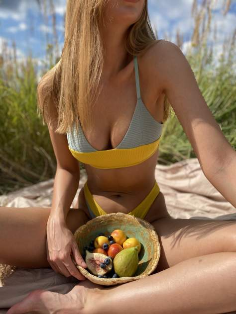 Комплект белья женский Seduction Papaya желтый L