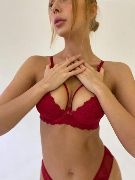 Комплект белья женский Seduction Bloom красный 75B
