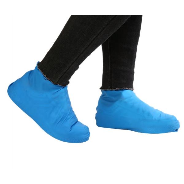 Многоразовые бахилы от дождя и грязи для защиты обуви синие L