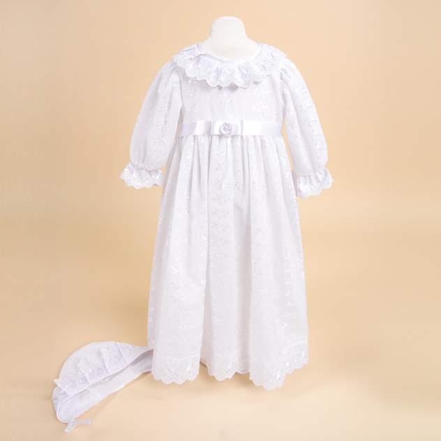 Крестильное платье и чепчик для девочки Золотой Гусь, р. 68-80