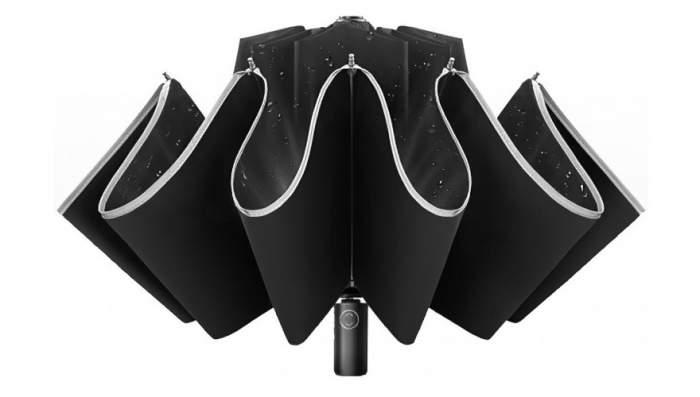Зонт c фонариком Xiaomi Mi Zuodu Reverse Folding Umbrella