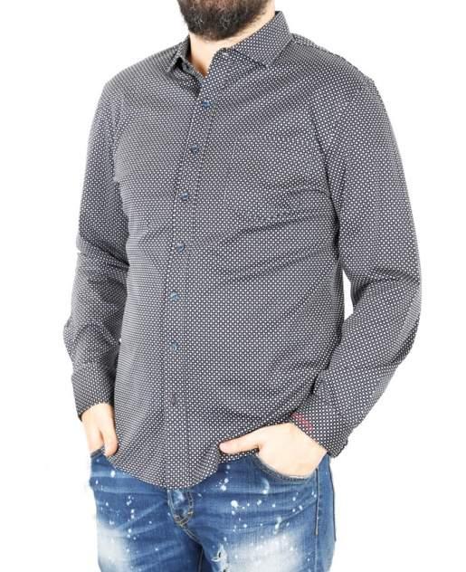 Рубашка мужская Enrico beleno GD30300024 синяя 4XL