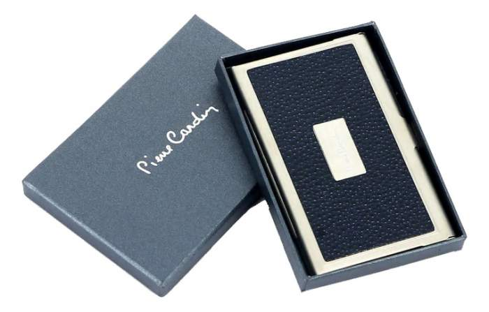 Визитница в металлическом корпусе Pierre Cardin PC1139 синяя