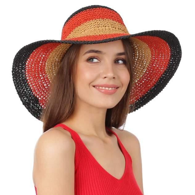Шляпа женская FABRETTI GL88 бежевая/красная/черная