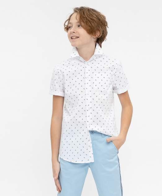 Рубашка для мальчиков Button Blue, цв. белый, р-р 122