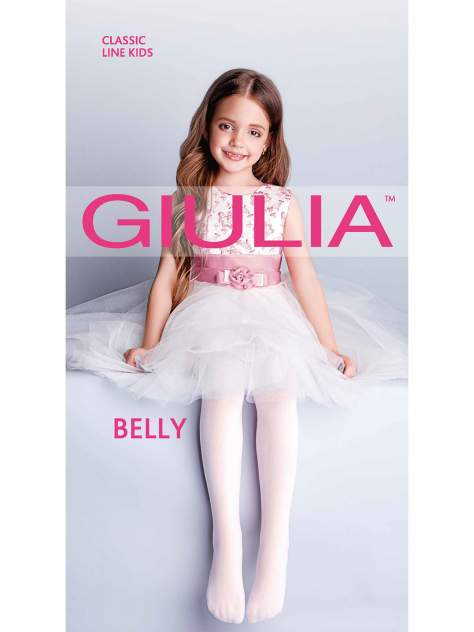 Колготки детские Giulia, цв. белый р.140