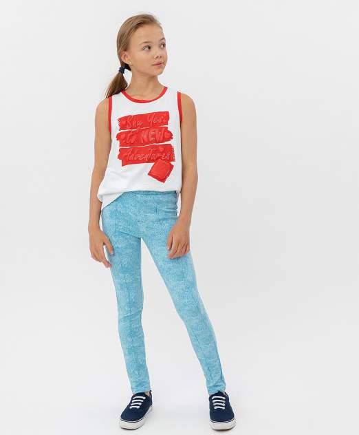 Брюки для девочек Button Blue, цв. голубой, р-р 98