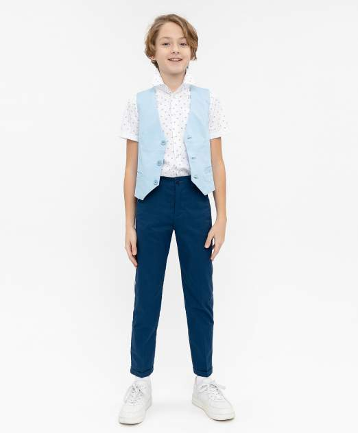 Брюки для мальчиков Button Blue, цв. синий, р-р 122