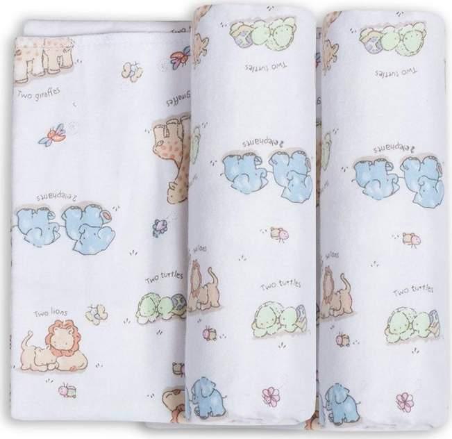 Пеленки для новорожденных фланелевые Трэнды. Обнимашки 2 штуки