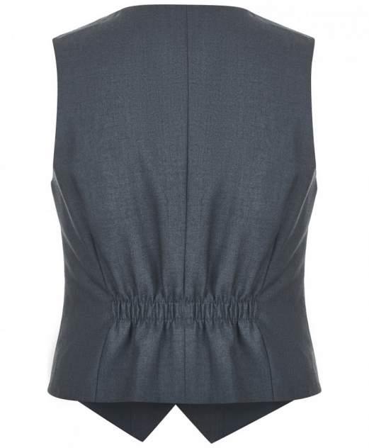 Жилет для девочек Button Blue, цв. серый, р-р 152