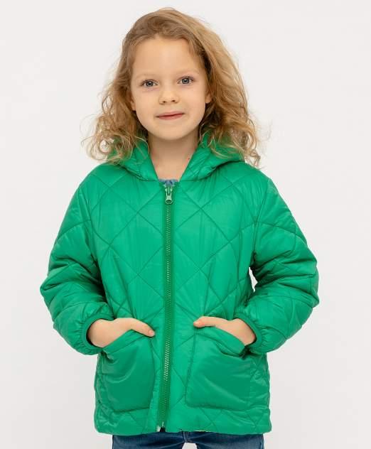 Куртка для девочек Button Blue, цв. зеленый, р-р 104