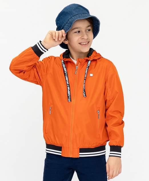 Ветровка для мальчиков Button Blue, цв. оранжевый, р-р 104
