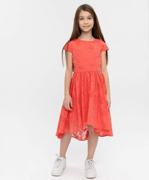 Платье для девочек Button Blue, цв. розовый, р-р 128