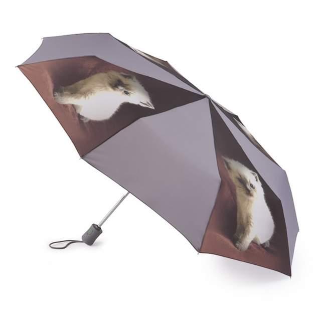 Зонт складной женский автоматический Fulton R346-3362 серый