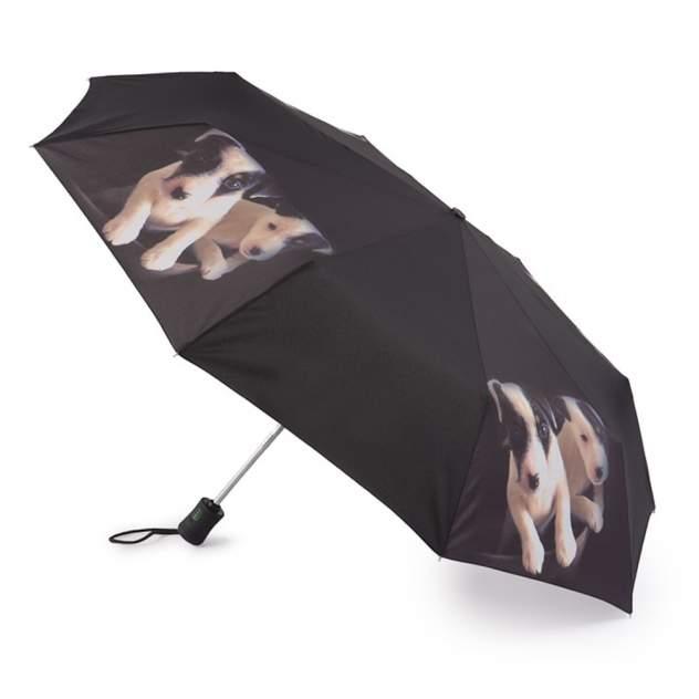 Зонт складной женский автоматический Fulton R346-3361 черный
