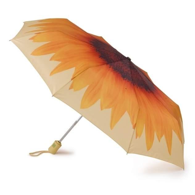 Зонт складной женский автоматический Fulton R346-3055 оранжевый