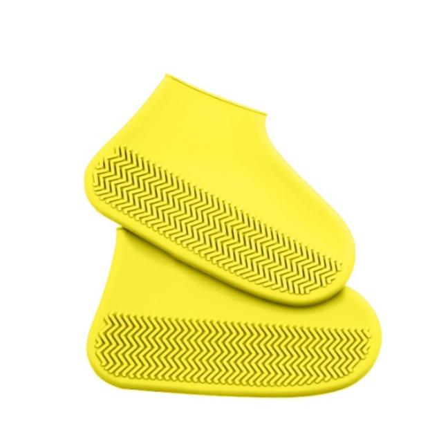 Многоразовые бахилы от дождя и грязи для защиты обуви желтые L