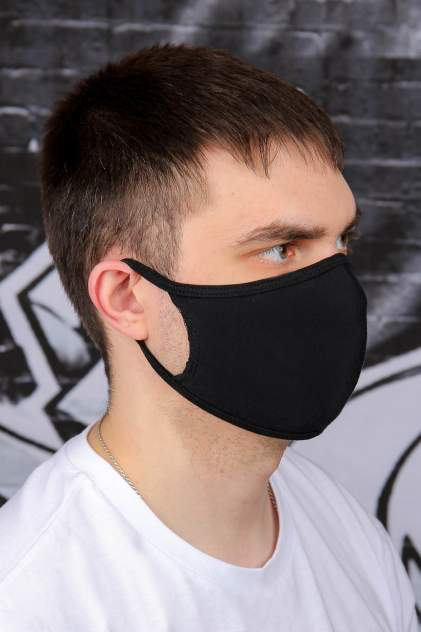 Многоразовая защитная маска Medservice+ 242433 черная 1 шт.