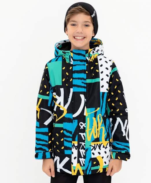 Пальто для мальчиков Button Blue, цв. черный, р-р 98