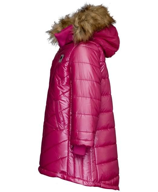 Пальто для девочек Button Blue, цв. розовый, р-р 104
